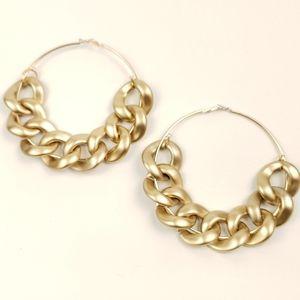"Gold Tone ""Chain Link"" Earrings"